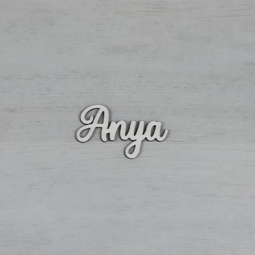 Anya felirat -  'Molly' betűtípussal, natúr