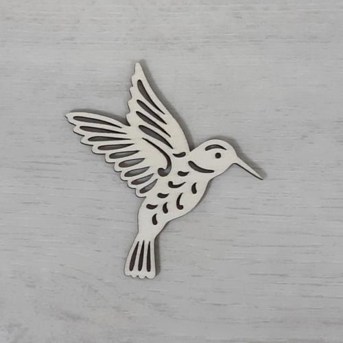 Kolibri, áttört - 8cm, natúr
