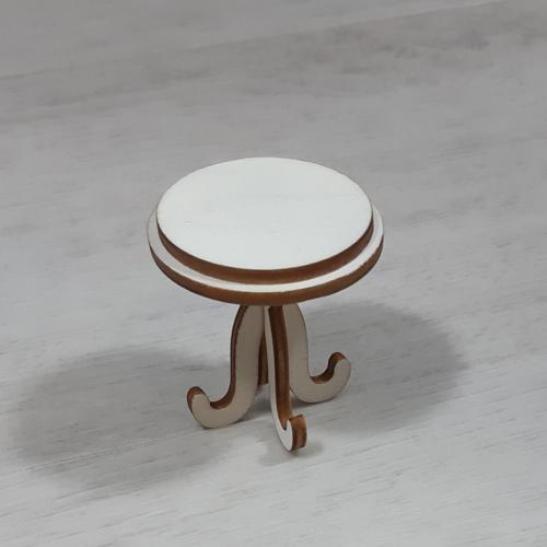 Asztal, kerek - 4,8cm, natúr