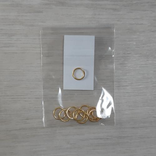 Szerelőkarika - arany, 9x1mm, 10db