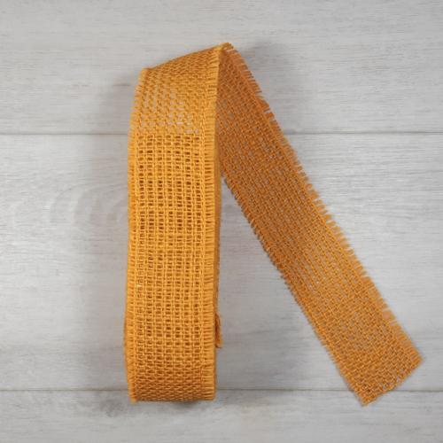 Juta szalag - 5cm-es, narancs