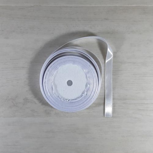 Szatén szalag - 10mm-es, fehér