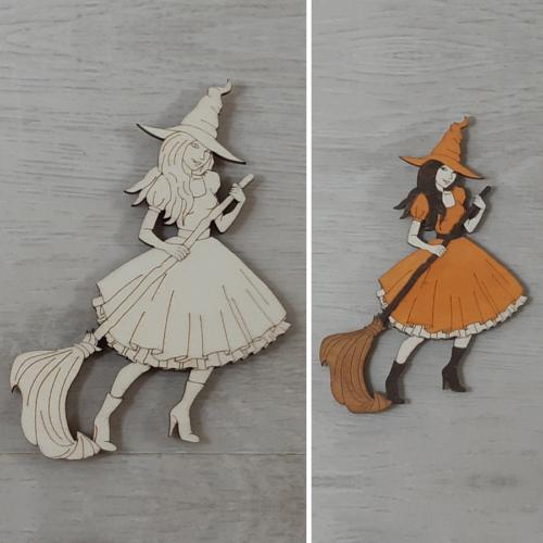 Jó boszorkány - 10cm, natúr