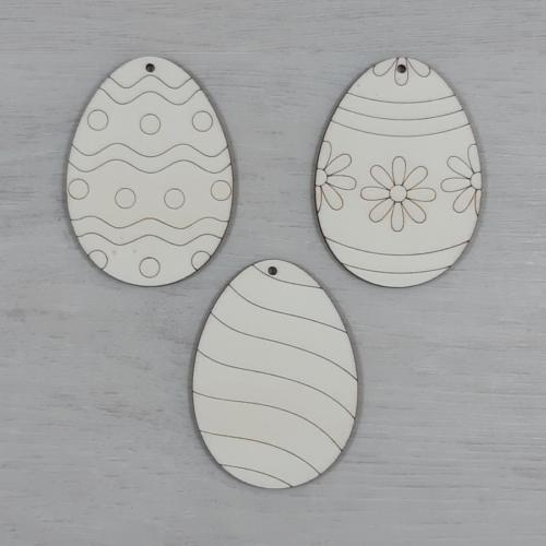 Tojás csomag, egyszerű 2 - 3 féle, 8cm, natúr