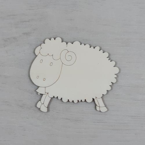 Bárány, csengős - 6cm, natúr